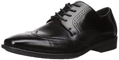 Stacy Adams Men's Adler Slip Resistant Wingtip Oxford, Black, ...