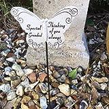 special grandad resin butterfly grave side crematorium memorial sticks