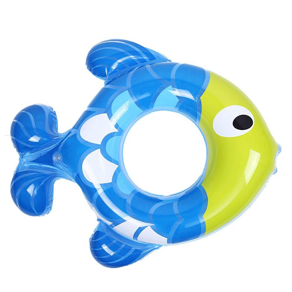 Pveath Anillo hinchable para niños con forma de pez, para bañera ...