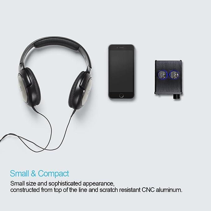 SMSL El auricular estéreo amplificador estéreo del tubo de vacío SMSL T2, el chip JRC5532DD, el tubo 6J9-J, el ruido NO / OFF, protege el auricular: ...