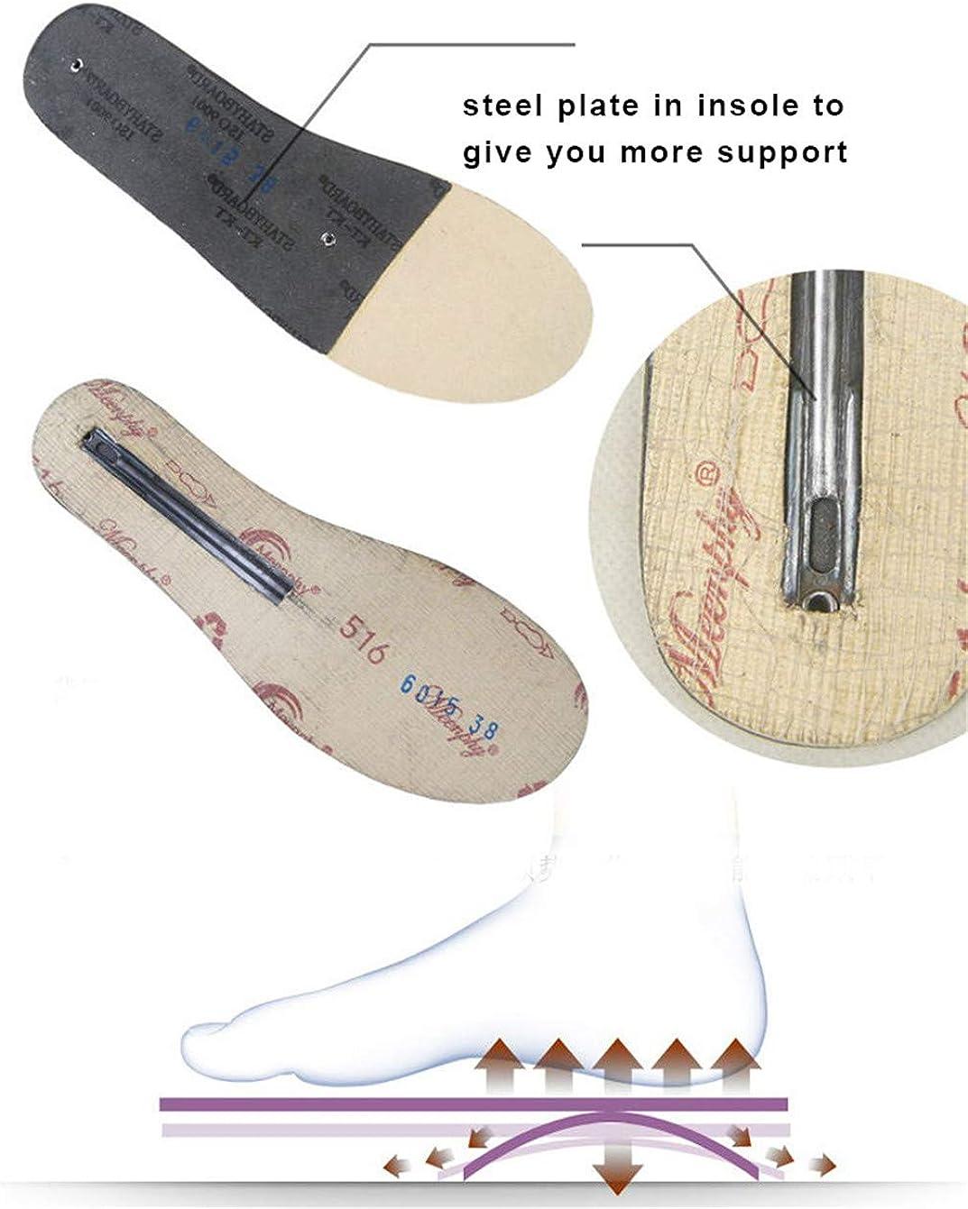 Herren Martin Stiefel Vollrindleder High Top Stiefeletten Baumwolle gepolsterte Lederschuhe Retro Tooling Stiefel für Vier Jahreszeiten Yellow AnTm2