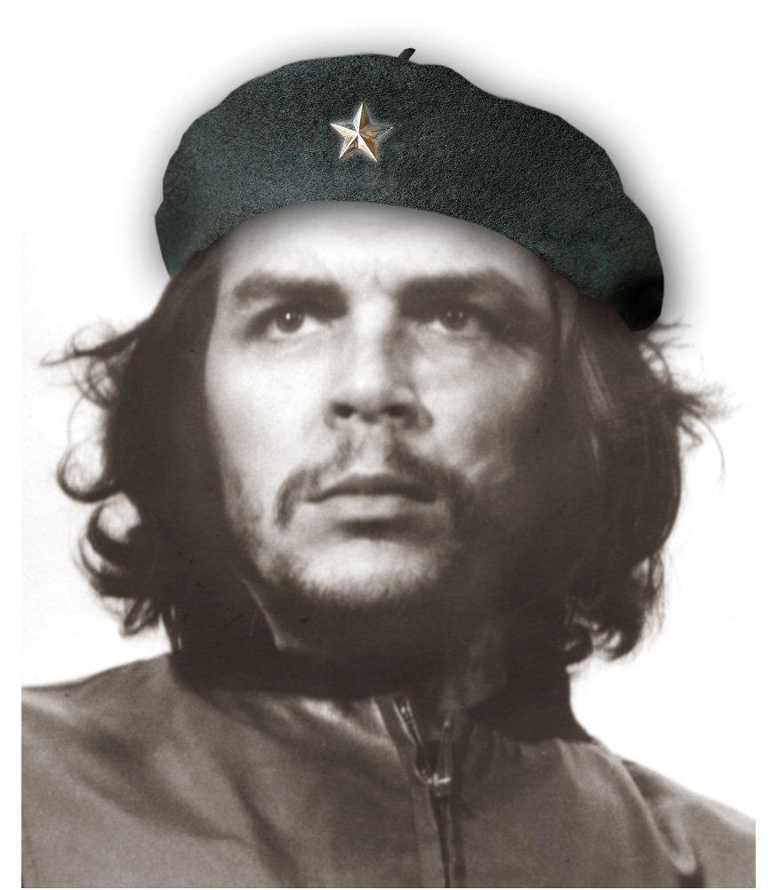 Che Guevara Store Beret Black Original Beret, Silver Star Medium