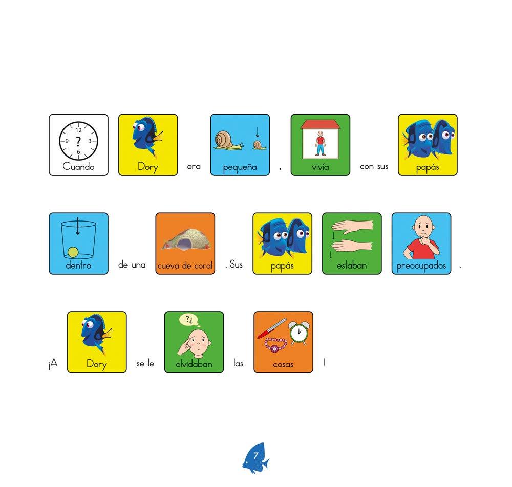 Buscando a Dory - Cuento con pictogramas / Editorial GEU / Facilita y fomenta la lectura / A partir de 3 años / Con tarjetas ilustradas en alta calidad Niños de 3