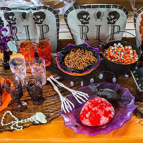 1 Feet Long Skeleton Tongs (Pack of 4 Tongs) Halloween Party Tableware Supplies & Decorations -