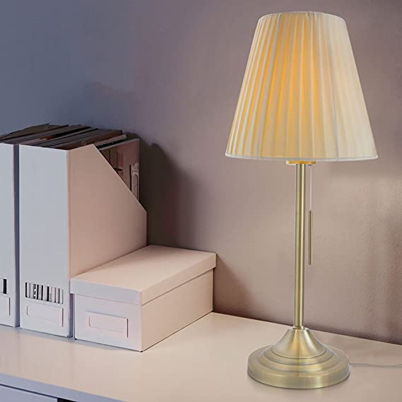 Europaische Moderne Einfache Tuch Lampenschirm Kupfer Lampe Korper