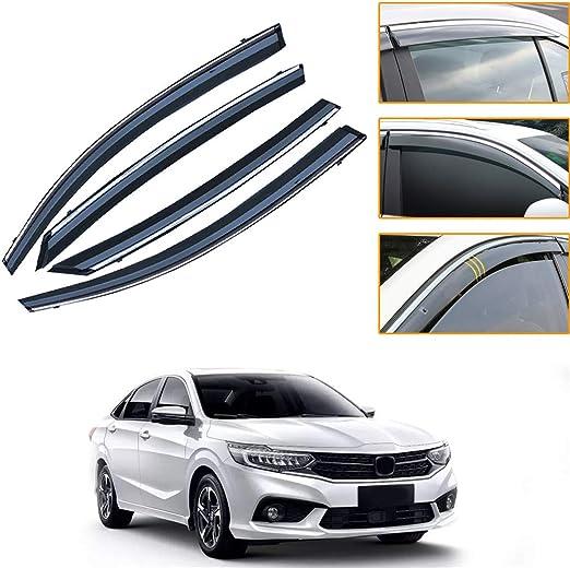 Side Window Deflectors for Kia KX1 2018-2019 4PCS Car Window Visor Sun Rain Smoke Vent Shade Tape-On Outside Visors