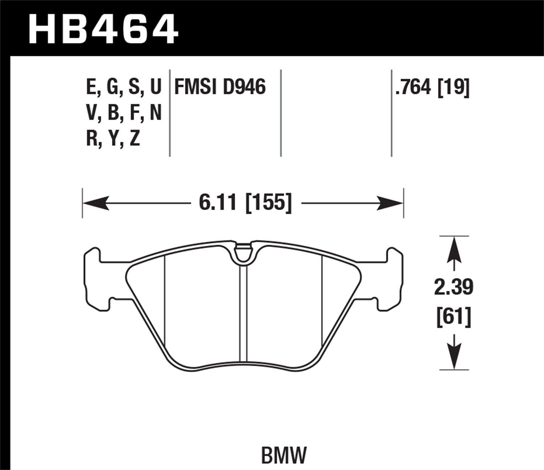 Hawk Performance HB247U.575 Disc Brake Pad Front