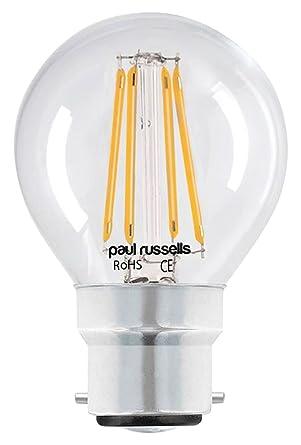 6 x Vintage estilo bayoneta bombillas LED transparente filamento 2 W envejecido golf luz decorar casa