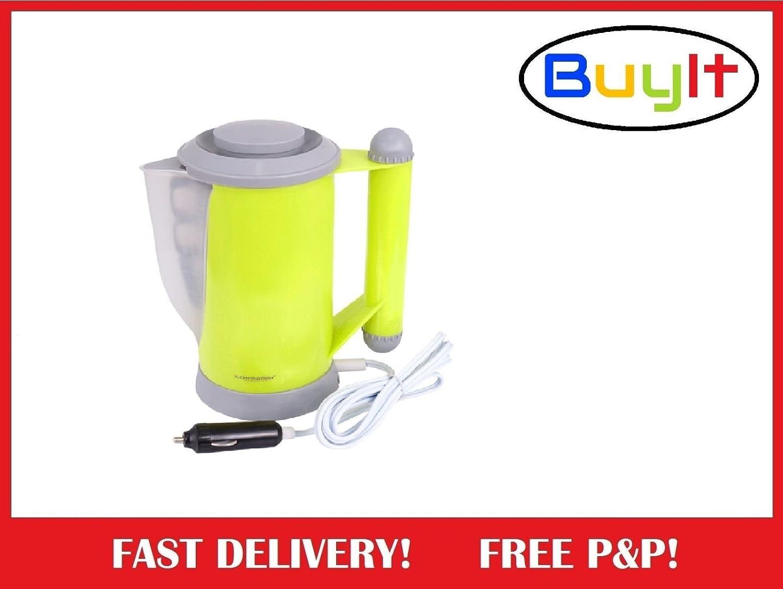 MontoyaEurope 24V/250W Car Van Caravan Travel Kettle Lighter Socket Camping Tea Coffee 700 ml