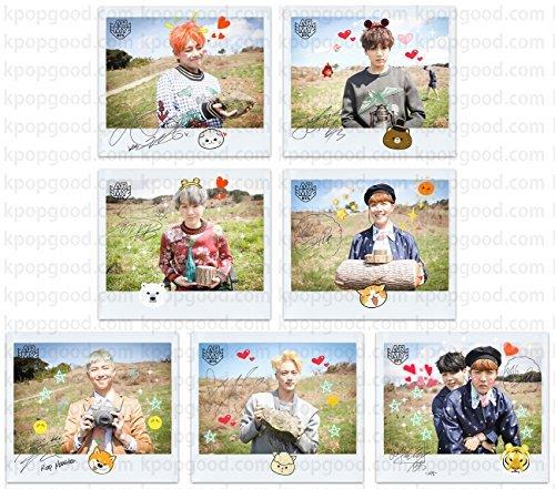 BTS bangtan boys fancafe 3rd army room emoticon photo set (Autographed Set)