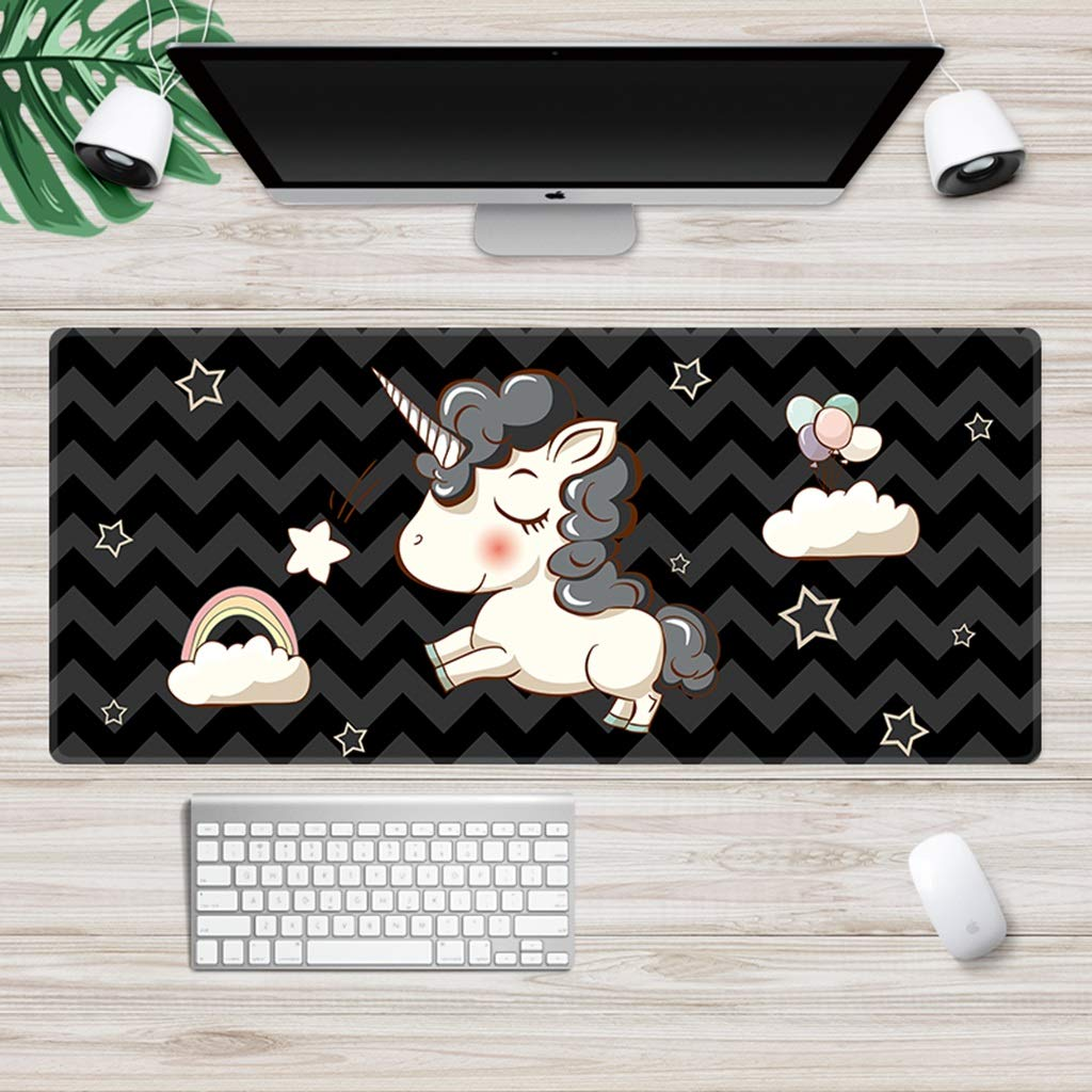 QYLOZ Cartoon Multifunctional Waterproof Large Gaming Mouse Pad Non-Slip Wear Resistant Desk Mat Stitched Edge Easy to Use, Prevent Wear and Tear (Color : E, Size : 40×90cm) by QYLOZ