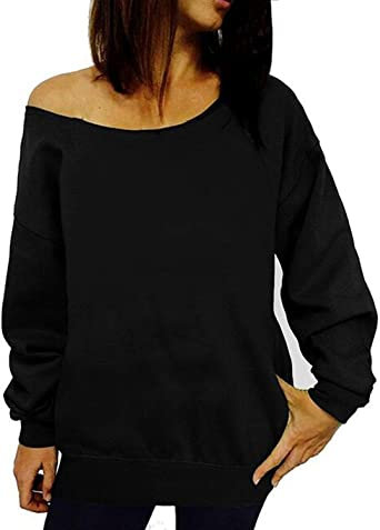 Round Neck Long Sleeve Solid Color Cute Printed Fall Blouse Tops Pullover Women Ripped Shirt Cold Shoulder
