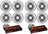 Revision Wheels Inline Roller Hockey Variant 72mm 76A 8-Pack with Bones Bearings