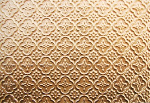 - Discounted Decorative Plastic Backsplash Wc-20 Gold Wall Covering 25 Ft.roll x 2ft. Fire Rated. Can Glue On,nail On,staple On,tape on Any Flath Serface!