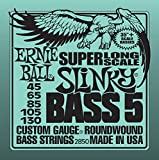 "Super Long Scale Slinky Bass Sets are round-wound for maximum clarity and serious punch.These are longer to fit 35""+ scale basses. String length is 53"" with a taper at 38 and 1/4"". Each bass string is manufactured with the finest and freshest raw mat..."