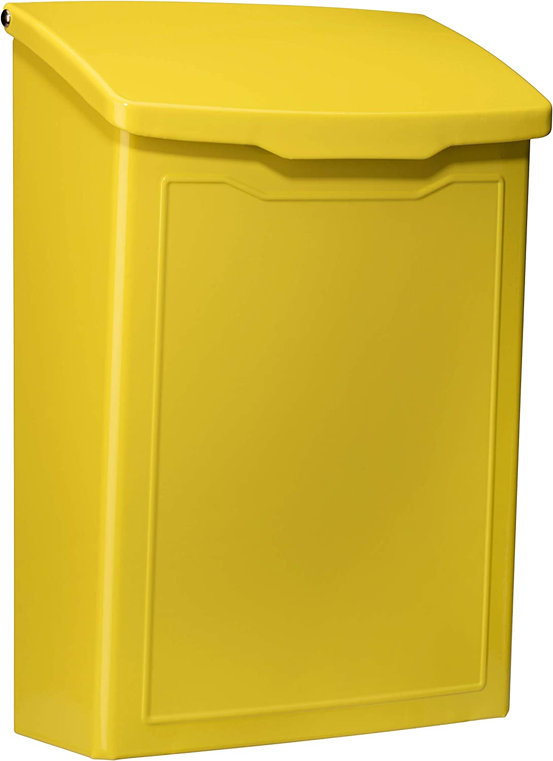 ARCHITECTURAL MAILBOXES 2681Y Marina Wall Mount Mailbox, Small, Yellow