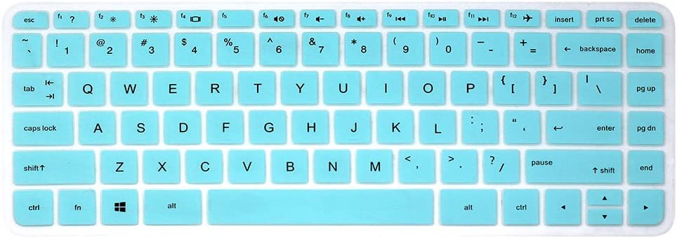 "Keyboard Cover Skins for 14"" HP Laptop Stream 14-ax010nr 14-ax020nr 14-ax020wm, HP ENVY 14-j000 14-j004, 14-ab010 14-ab166us 14-ac159nr 14-ad006 14-an010nr 14-an013nr 14-an080nr 14-al062nr (Turquoise)"
