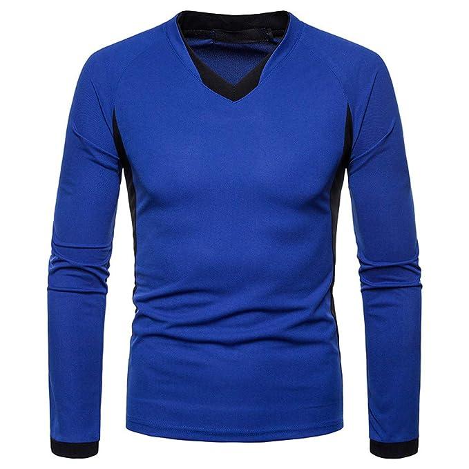 Yvelands Camisas para Hombre Slim Fit, Camisa de Manga Larga Casual para Hombre Henry Costuras
