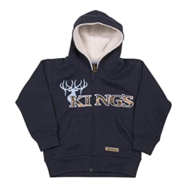 ee1f005da Amazon.com  King s Camo - Infant Sherpa Zip Hoodie  Clothing
