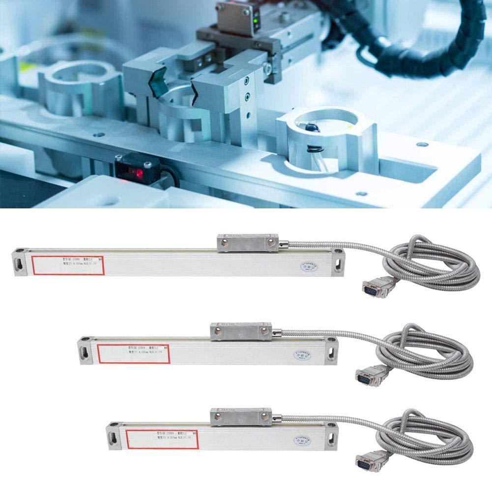 0-200mm 0-400mm 0-500mm Codificador lineal /óptico 3PCS Torno Escala lineal Escala lineal 5um Codificador de lectura digital de precisi/ón para JCS900-2AE JCS900-3AE DRO DRO de lectura digital