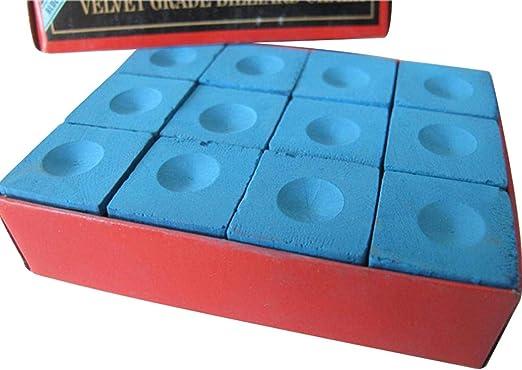 LNIEGE - Caja de tizas para Taco de Billar (12 Unidades), Color Azul: Amazon.es: Hogar