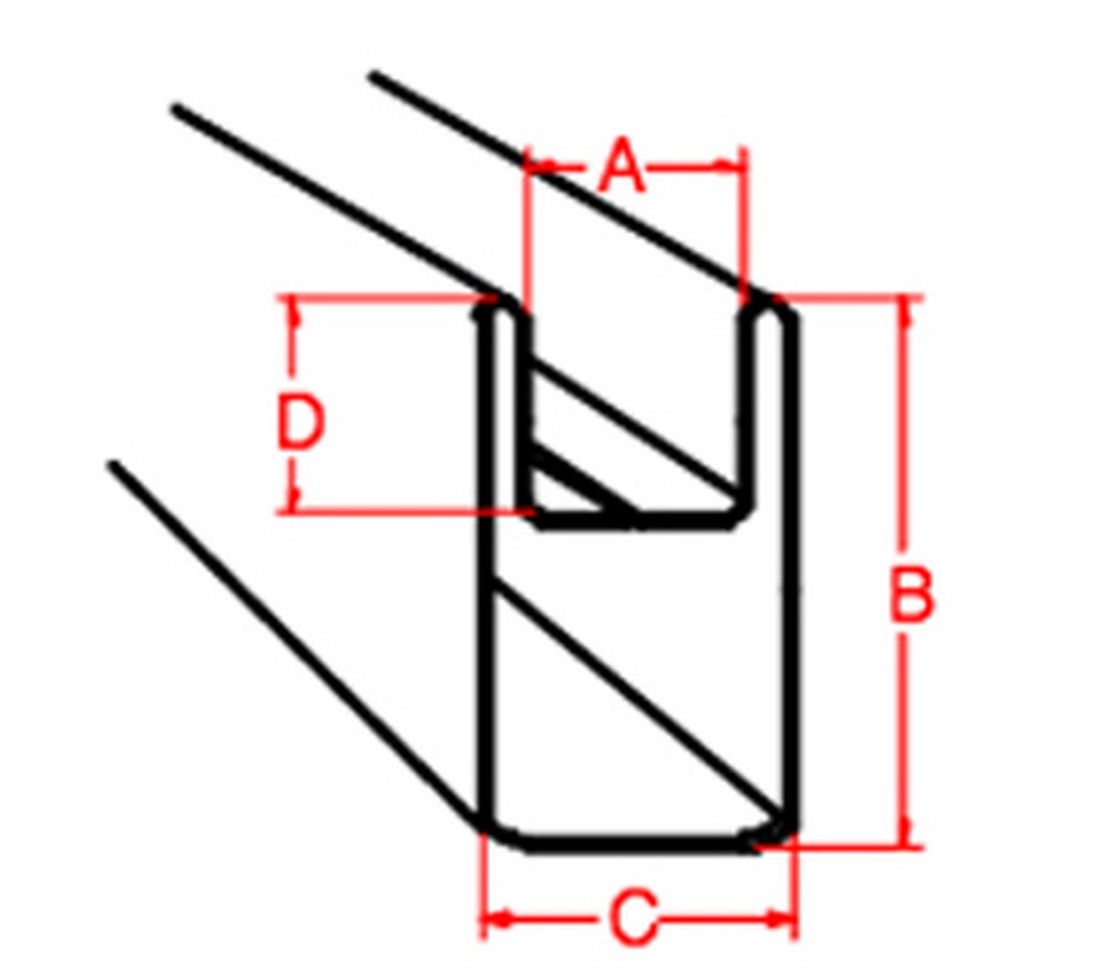 U Zinc - 9/32'' - 6ft Zinc Came (Cut Into 3 - 24'' Pieces) By Stallings Stained Glass by Stallings Stained Glass