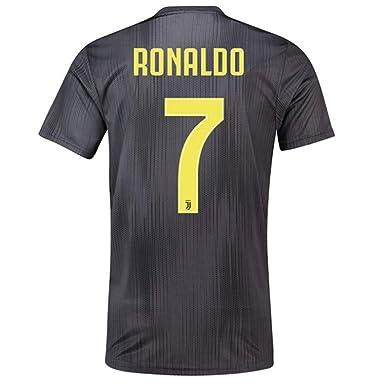 new arrival b49f3 f8e74 Juventus Away #7 C Ronaldo 2018-2019 Season Soccer Jersey Mens Black Size M