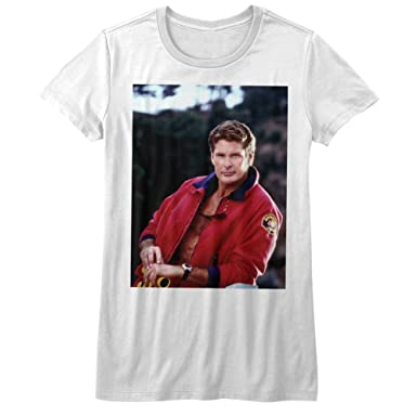 72ccf4222e Amazon.com: A&E Designs Baywatch Juniors David Hasselhoff Shirt ...