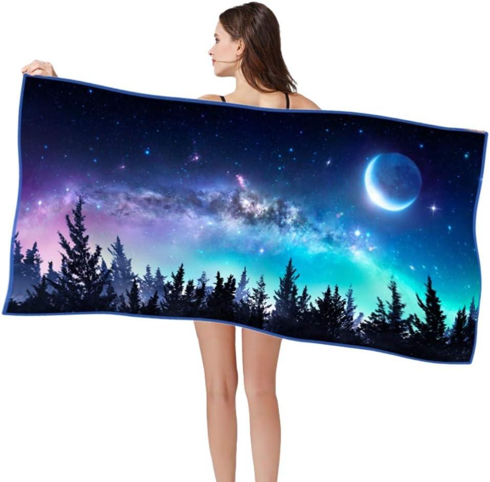 Hankyky Univers Galaxy Espace Imprim/é Rectangle Voyage Serviette De Plage Doux S/échage Rapide Sable Gratuit Preuve en Microfibre Serviette De Bain Tapis De Yoga Couverture De Pique-Nique