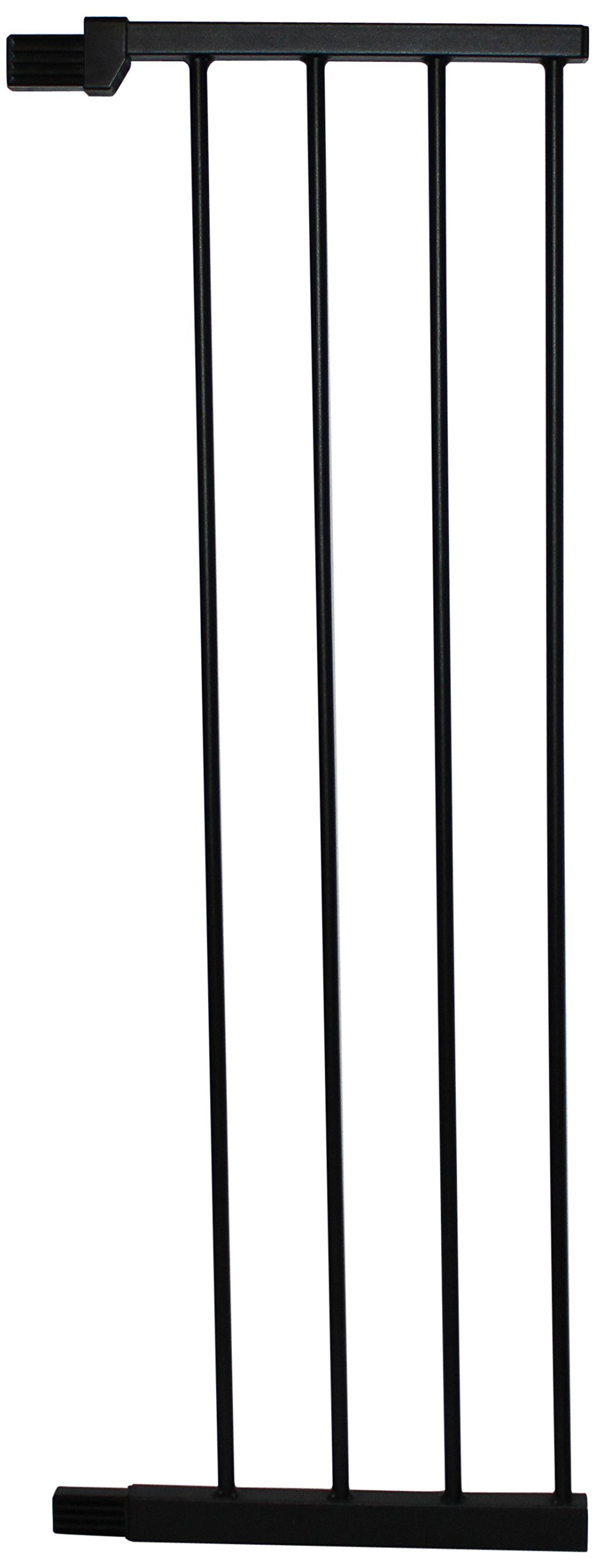 Cardinal Gates Extension for Extra Tall Premium Pressure Gate, Black, Large