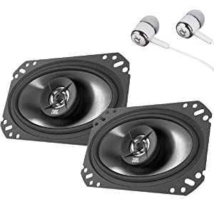 "JBL Stage 6402 210W Max (70W RMS) 4"" x 6"" 4 ohms Stage Series 2-Way Coaxial Car Audio Speakers / FREE ALPHASONIK EARBUDS"