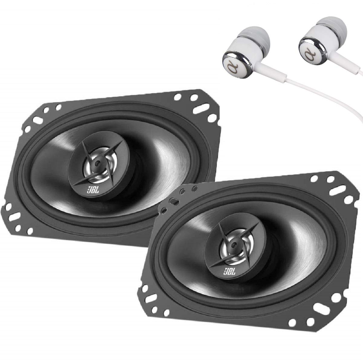 """JBL Stage 6402 210W Max (70W RMS) 4"""" x 6"""" 4 ohms Stage Series 2-Way Coaxial Car Audio Speakers"""