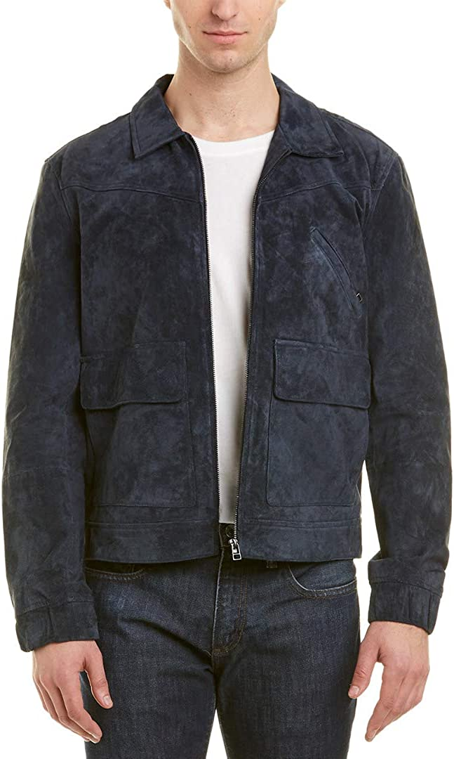 Image of [BLANKNYC] Russian Navy Suede Jacket Outerwear Vests