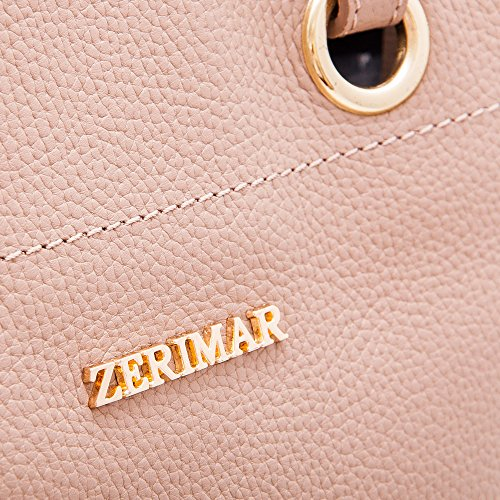 High Shoulder Women's Handbag Handbag Women's Multiple Zerimar and Handbag Taupe Bags Big compartments Small Leather Hobos Quality tdRqYHwq