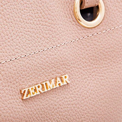 Grand Sac de Sac 100 main cuir à haute Sac Sacs Taupe femme portés Zerimar qualité Petit main à main HPTaqq8w