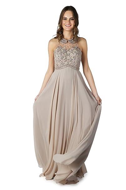 3691486eec5d Dynasty Spirito da donna Charisse Beige Vestito lungo senza sciarpa stile  1022820 Beige 36