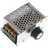 AC 110V~220V 120V SCR Voltage Regulator adjust Motor Speed Control Dimmer Thermostat PWM controller SCR 4000W industry Voltage Regulator with Housing Adjustable Voltage Regulator Controller Light Ther