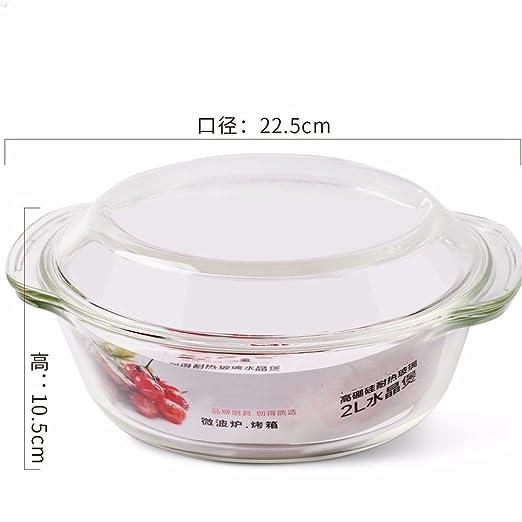 Tazón de vidrio resistente al calor con tapa tazón microondas bowl ...
