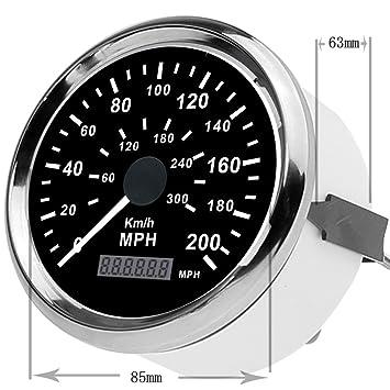 """GOGOLO 3.3 """"Universal GPS Digital Velocímetro Dual y reloj de odómetro 0-200"""