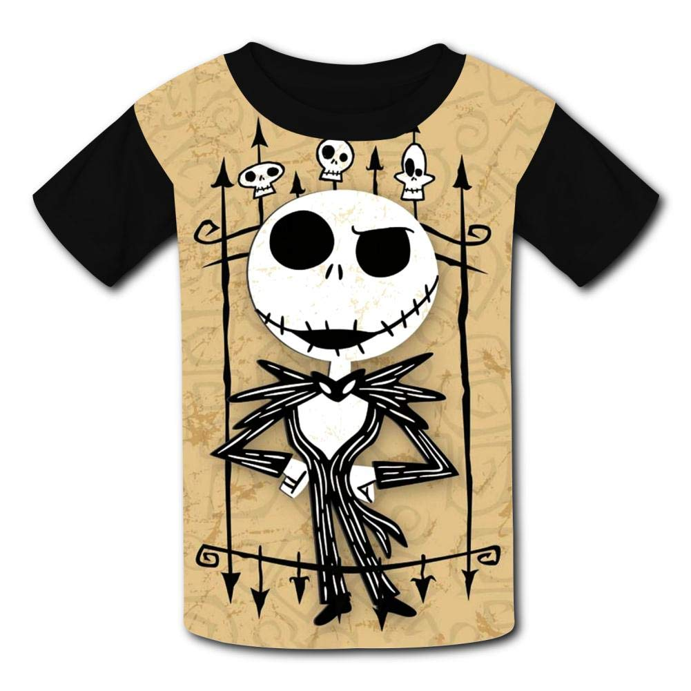 Halloween Christmas Night-Mar-e Kids T-Shirts Short Sleeve Tees Summer Tops for Youth//Boys//Girls