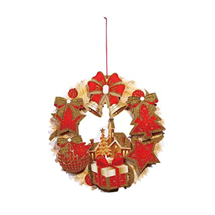 Paper Christmas Wreath Ideas.Sixcup Clearance Christmas Wreath Decorations Paper Door