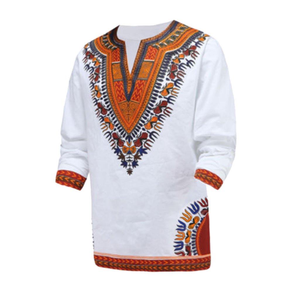 Meijunter Men African National Long Sleeve Printed T-Shirt Dashiki Tribal Shirts Ltd.