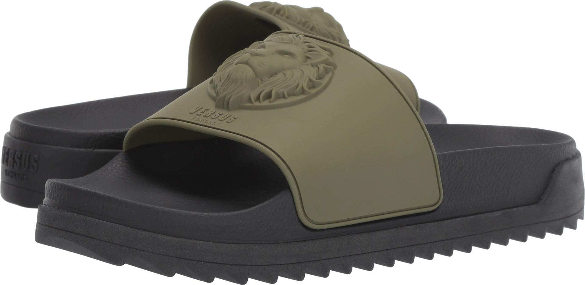 Versus Versace Men's Lion Slides Military Green/Black 44 M EU