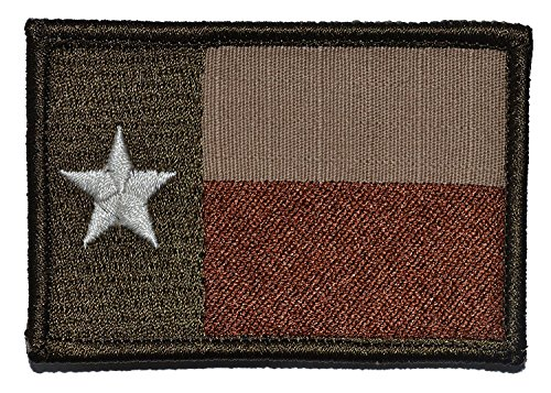 Velcro Attachment (Texas Flag Tactical Morale Velcro Patch for sand colored camo, military uniforms, Condor operator hats, and molle attachments (Lone Star Desert Coyote, 2
