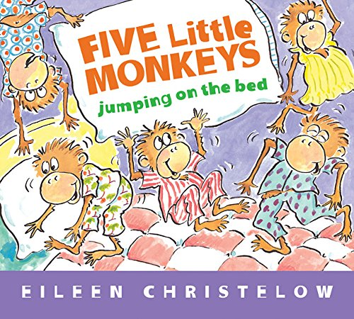 Cute Little Monkey - Five Little Monkeys Jumping on the Bed (Padded Board Book) (A Five Little Monkeys Story)
