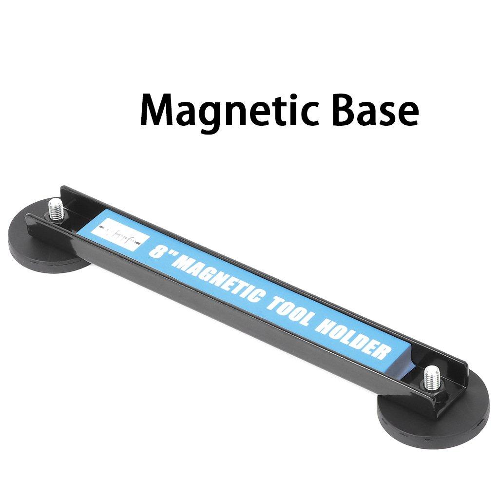 Onpiece 8'' 12'' 18'' Magnetic Tool Holder Bar Racks, Metal Magnet Storage Tool Organizer Racks, Great for Garage Workshops (8'') by Onpiece (Image #1)
