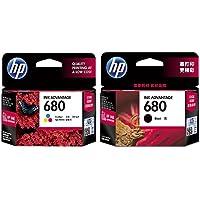 HP 680 Combo Inkjet Print Cartridges (Black/Tri-color)