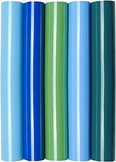 Juego de 5 láminas de transferencia con purpurina y purpurina A4 para planchar sobre textiles, perfectas para plottern, color 5 unidades Green Love: Amazon.es: Oficina y papelería