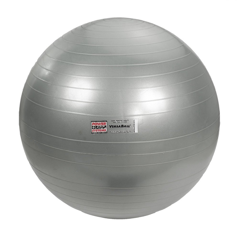 Power Systems VersaBall Stability Ball, 75cm, Silver Frost (80037)