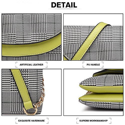 Women Women Leather Handbag Clutch Evening Double Double Evening Bag Handbag Layer Layer Clutch Shoulder Leather SRwZqwtp